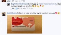 Screenshot av en post på Facebook, hvor de diskuterer at de får nye medlemmer.